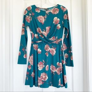 {Lily Rose} Floral Print Long Sleeve Dress | XS